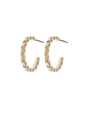 Azlee - Scattered Diamond Hoops - Women