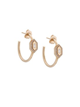 Azlee - 18kt Yellow Gold Diamond Hoops - Women