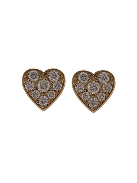 Sophie Bille Brahe - Pave Diamond Heart Stud Earrings - Women