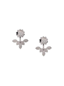 18kt white gold diamond stud and earring jacket