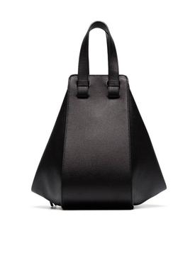 Leather hammock bag BLACK