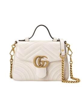 GG marmot top handle bag WHITE
