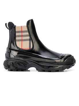 Burberry - Check Detail Chelsea Boots - Women