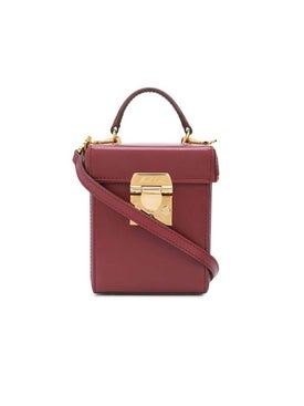 Mark Cross - Burgundy Grace Cube Bag - Shoulder Bags