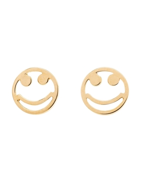 Smiley stud earrings