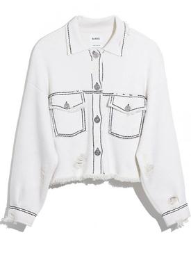 Cropped cashmere jacket