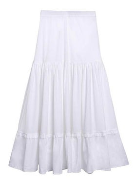 Chufy - White Ruffled Skirt - Women