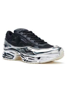 Adidas - Adidas X Raf Simons Black And Silver Ozweego - Men