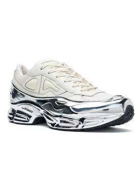 Adidas - Adidas X Raf Simons White And Silver Ozweego - Men