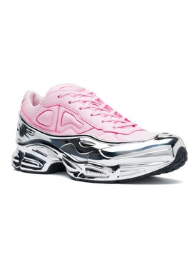 Adidas - Adidas X Raf Simons Pink And Silver Ozweego - Low Tops