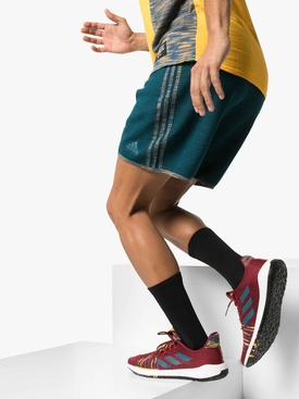 adidas x Missoni Burgundy Pulseboost knit sneakers