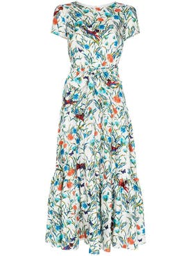 Borgo De Nor - Eliza Floral Print Midi Dress - Women