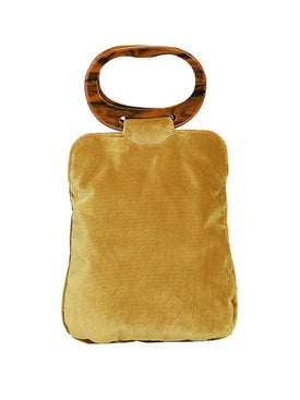 Edie Parker - Velvet Grab Bag Yellow - Women