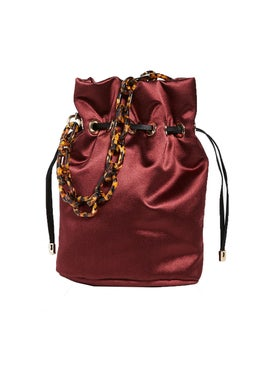 Edie Parker - Dark Berry Satin Shorty Bag - Women