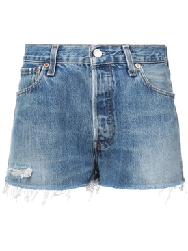 faded shorts BLUE