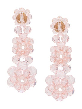 Simone Rocha - Crystal Beaded Drop Earrings - Women