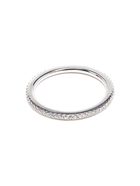 18kt WHITE GOLD ETERNITY RING