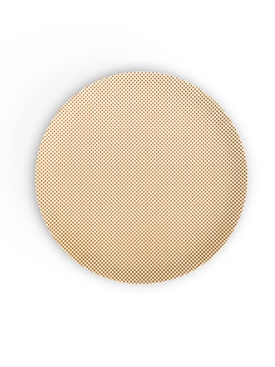 Eye Light dinner plate GOLD