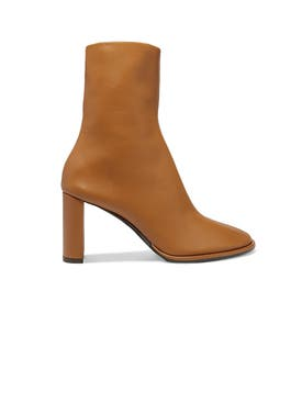 The Row - Teatime Leather Ankle Zip Boot - Women