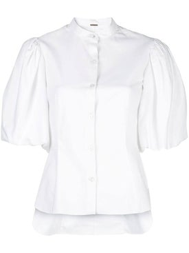 Adam Lippes - White Puff Sleeve Shirt - Women