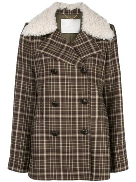 Adam Lippes - Brown Double-breasted Plaid Jacket - Women