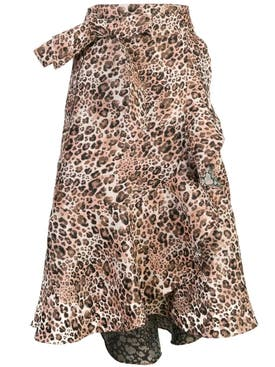 Johanna Ortiz - Leopard Print Wrap Around Skirt - Women