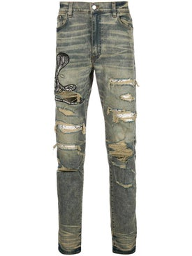 Amiri - Snake Patch Jean Blue - Men
