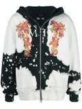 Amiri - Watercolor Dragon Zip Up Hoodie Black/white - Men