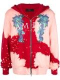 Amiri - Watercolor Dragon Zip Up Hoodie Red/pink - Hoodies