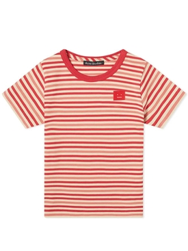 Kids striped poppy red t-shirt