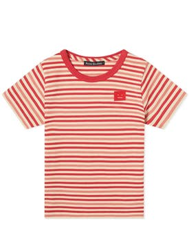 Acne Studios - Kids Striped Poppy Red T-shirt - Kids