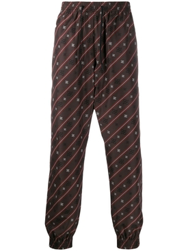 Fendi - Karligraphy Print Track Pants Cocoa - Men