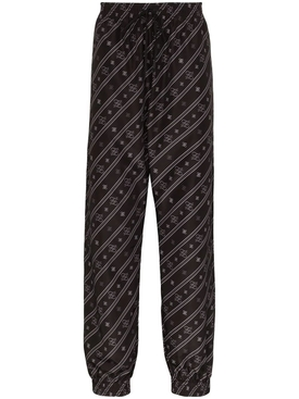 Karligraphy print track pants BLACK