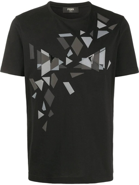 Geometric print t-shirt BLACK