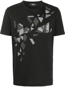 Fendi - Geometric Print T-shirt Black - Men
