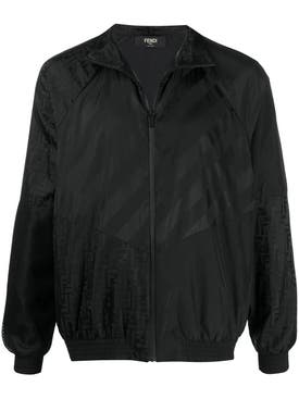 Fendi - Black Ff Logo Bomber Jacket - Men