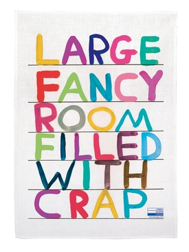 Fancy Room Tea Towel MULTICOLOR