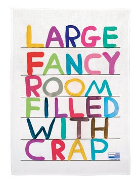 David Shrigley - Fancy Room Tea Towel Multicolor - Home