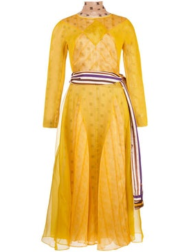 Fendi - Yellow Monogrammed Dress - Women
