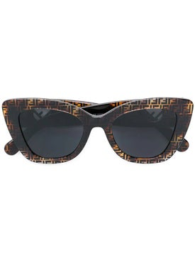 Fendi - Thick Frame Monogram Sunglasses - Sunglasses