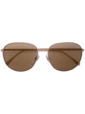 Fendi - Light Brown Round Sunglasses - Women