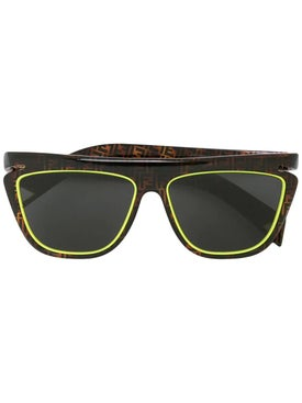 Fendi - Logo Tortoiseshell Square Sunglasses - Sunglasses