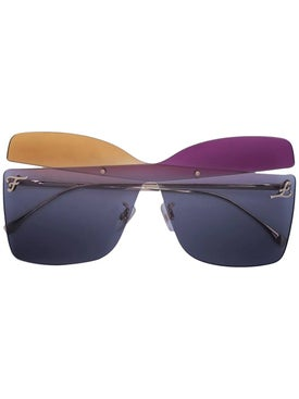 Fendi - Multicolored Square Sunglasses - Women