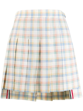 Multicolored check print skirt