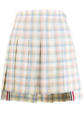 Multicolored check print skirt