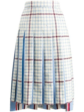 Thom Browne - Check Print Pleated Skirt - Women