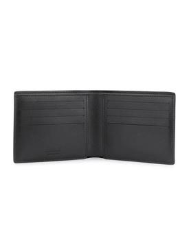 Black Floral Billfold Wallet