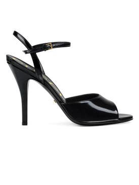 Gucci - Peep-toe Leather Sandals Black - Women