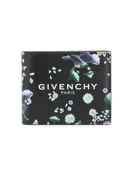 Givenchy - Black Floral Billfold Wallet - Men