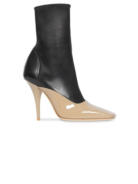 two-tone stiletto boots